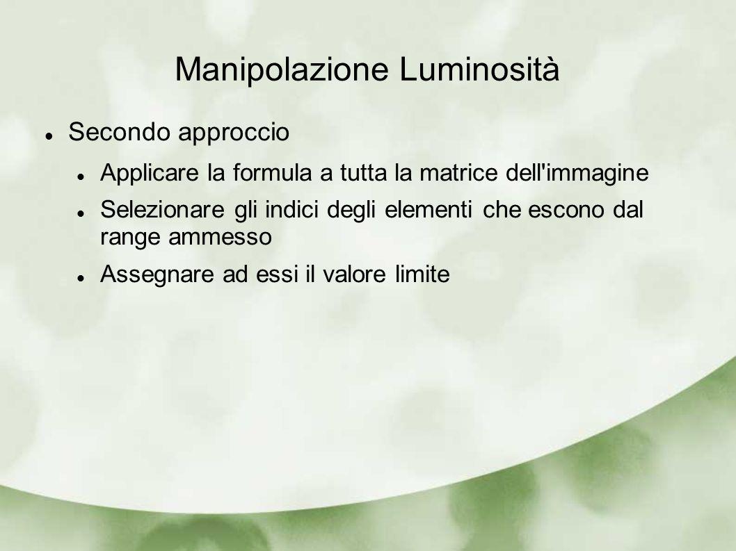 Manipolazione Luminosità