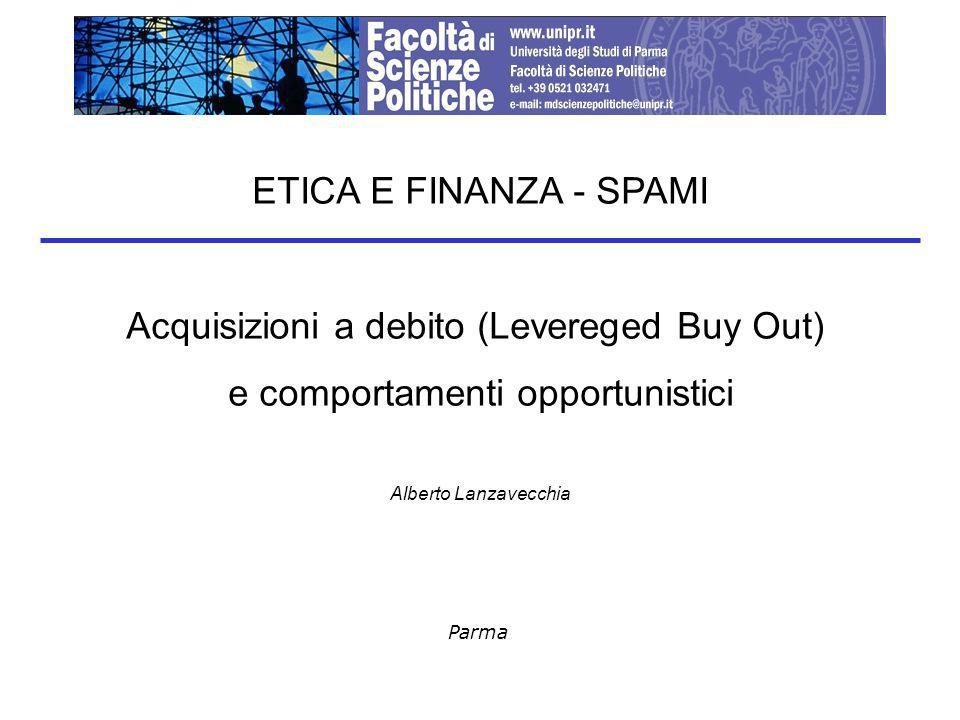 Acquisizioni a debito (Levereged Buy Out)