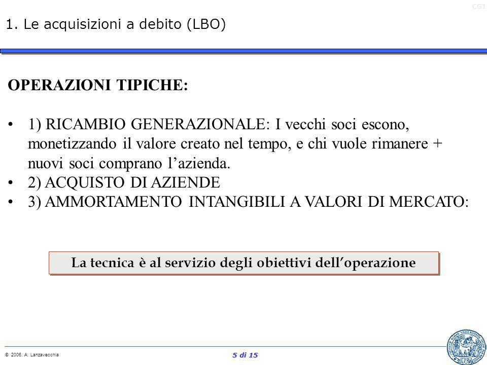 1. Le acquisizioni a debito (LBO)