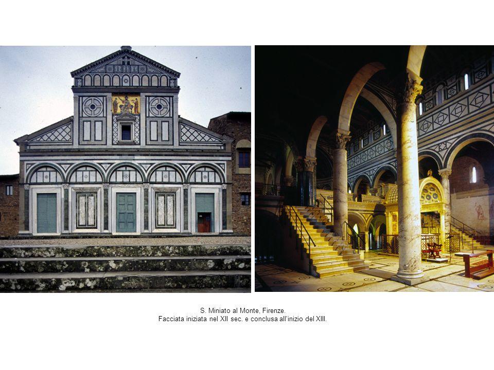 S. Miniato al Monte, Firenze. Facciata iniziata nel XII sec