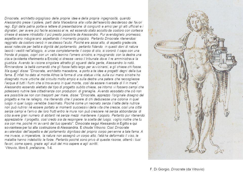 F. Di Giorgio, Dinocrate (da Vitruvio)