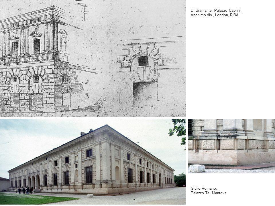 D. Bramante, Palazzo Caprini. Anonimo dis., London, RIBA.
