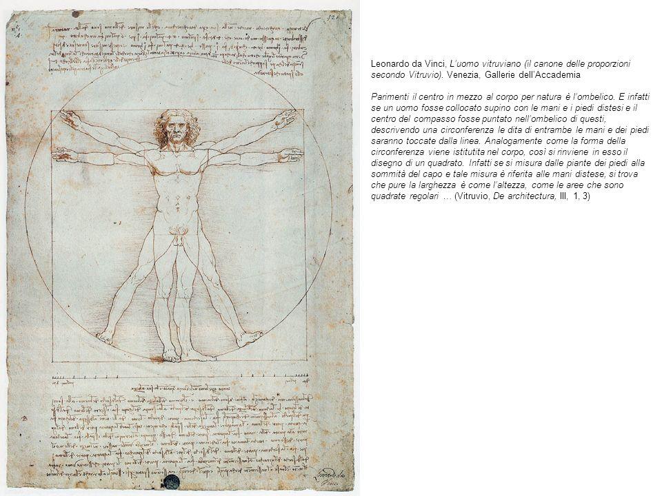 Leonardo da Vinci, L'uomo vitruviano (il canone delle proporzioni secondo Vitruvio).
