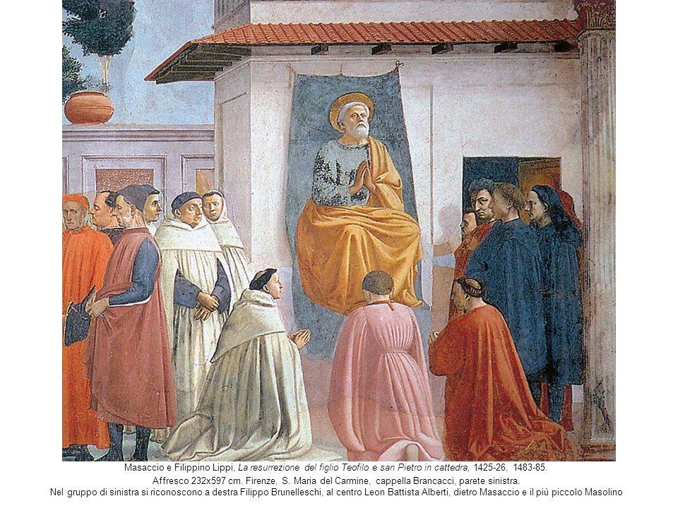 Masaccio e Filippino Lippi, La resurrezione del figlio Teofilo e san Pietro in cattedra, 1425-26, 1483-85.