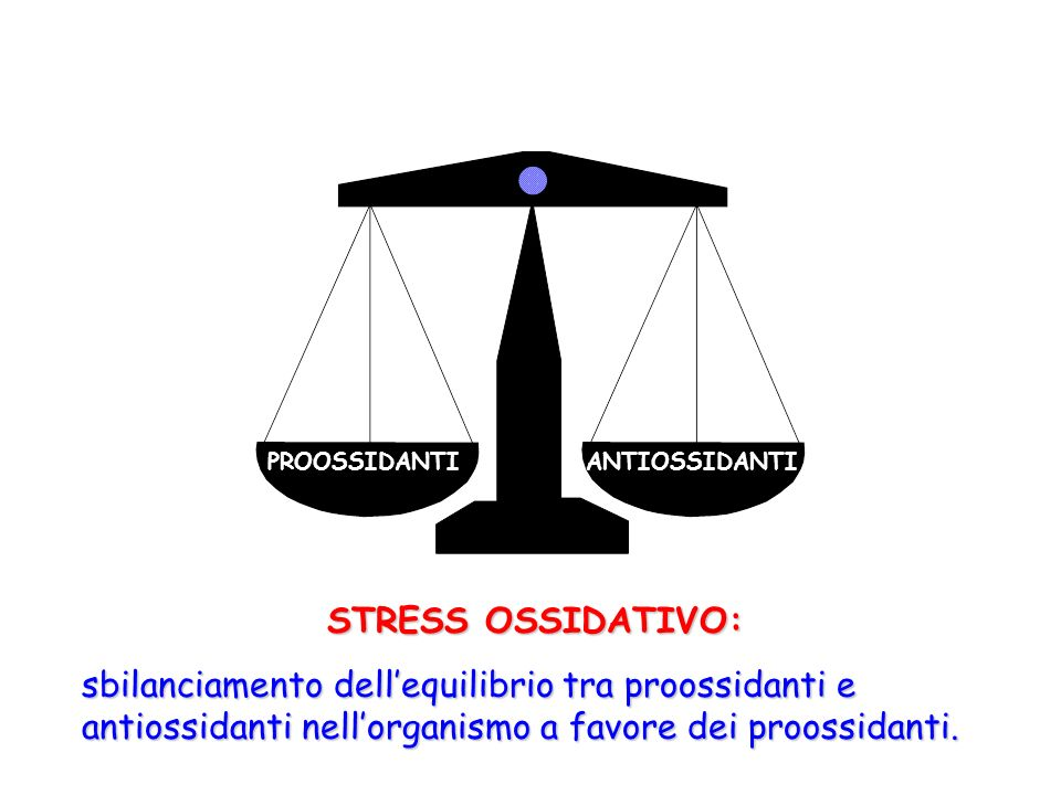 PROOSSIDANTI ANTIOSSIDANTI. STRESS OSSIDATIVO: