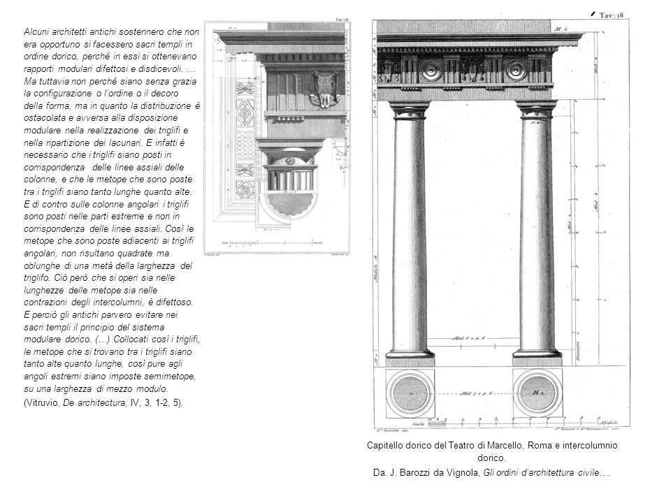 (Vitruvio, De architectura, IV, 3, 1-2, 5).