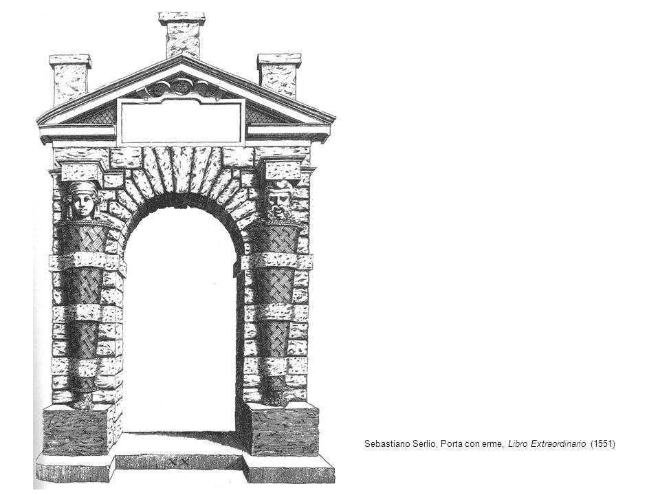 Sebastiano Serlio, Porta con erme, Libro Extraordinario (1551)