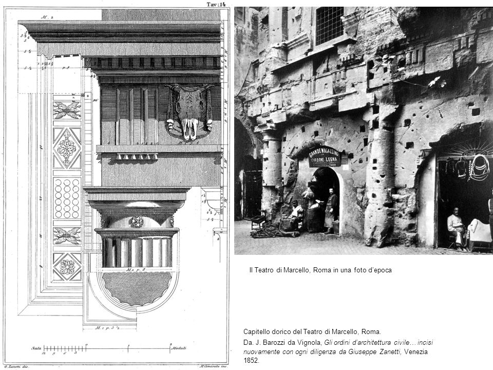 Il Teatro di Marcello, Roma in una foto d'epoca