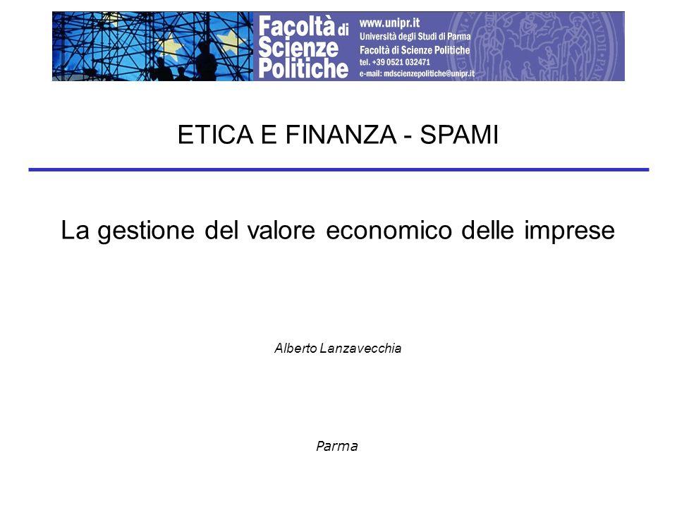 La gestione del valore economico delle imprese