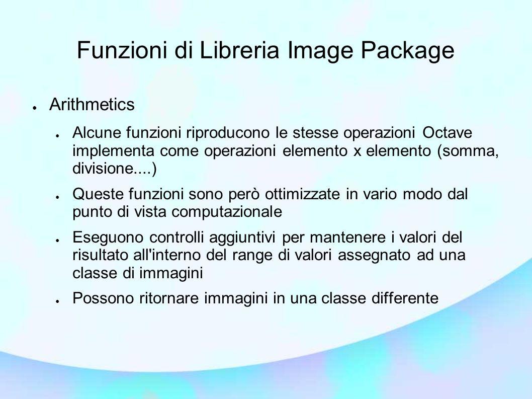 Funzioni di Libreria Image Package