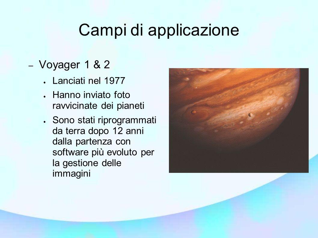 Campi di applicazione Voyager 1 & 2 Lanciati nel 1977