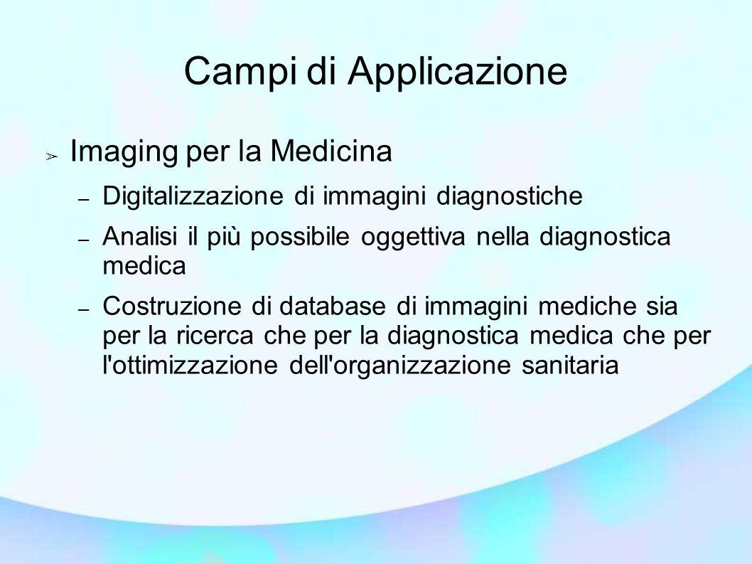 Campi di Applicazione Imaging per la Medicina