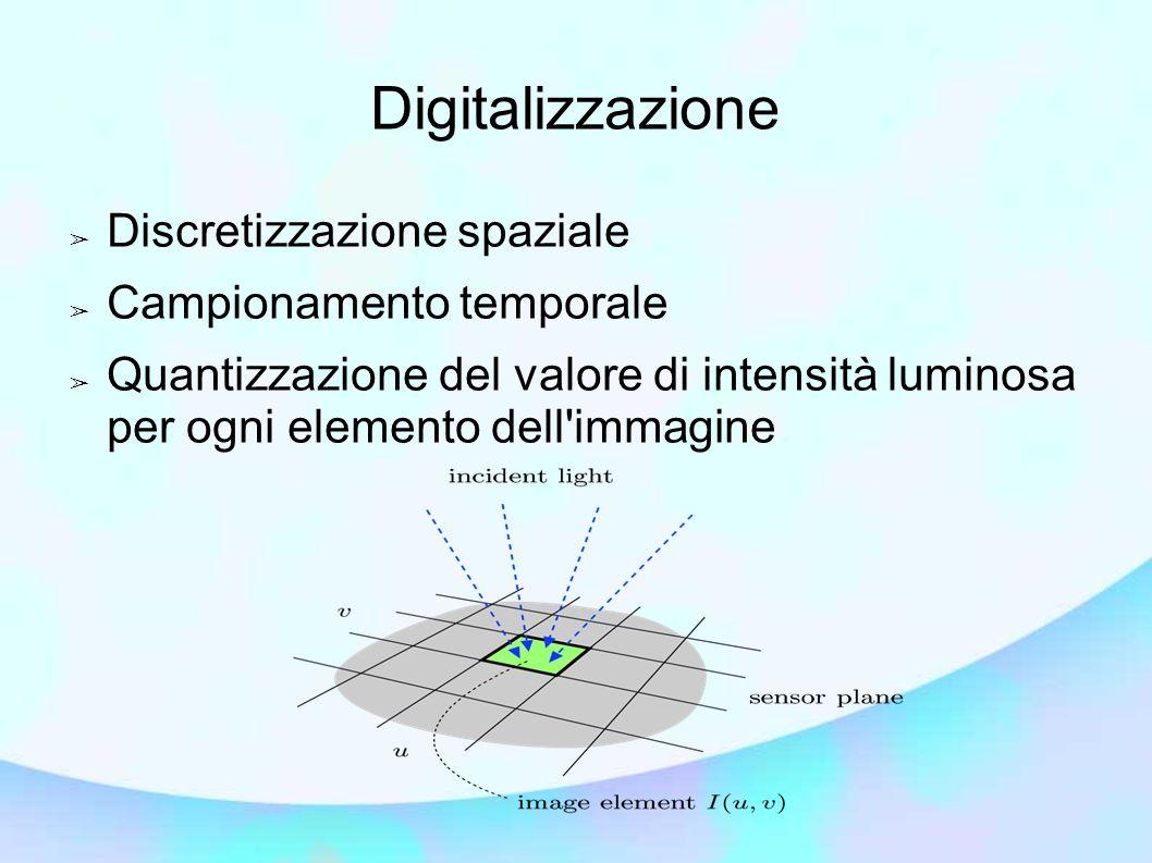 Digitalizzazione Discretizzazione spaziale Campionamento temporale