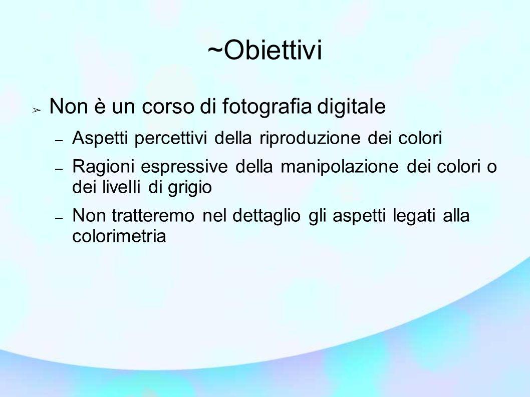 ~Obiettivi Non è un corso di fotografia digitale