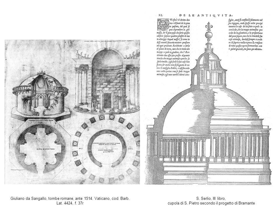 Giuliano da Sangallo, tombe romane, ante 1514. Vaticano, cod. Barb. Lat. 4424, f. 37r