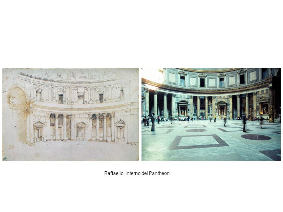 Raffaello, interno del Pantheon