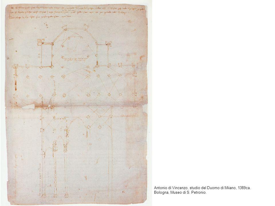 Antonio di Vincenzo, studio del Duomo di Miiano, 1389ca