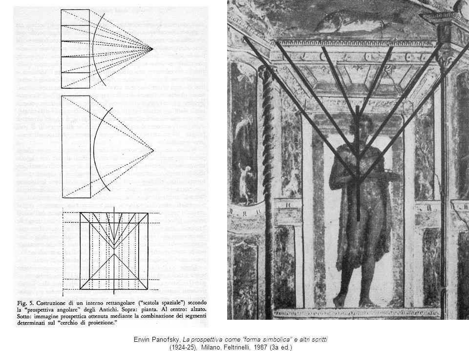 Erwin Panofsky, La prospettiva come forma simbolica e altri scritti (1924-25), Milano, Feltrinelli, 1987 (3a ed.)