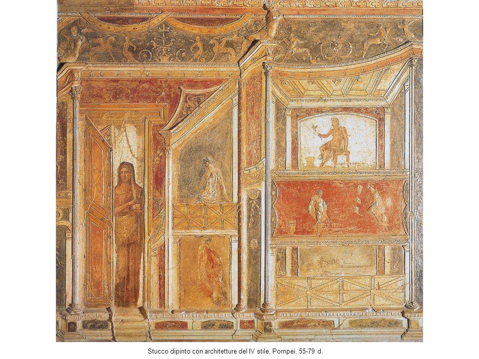 Stucco dipinto con architetture del IV stile, Pompei, 55-79 d.