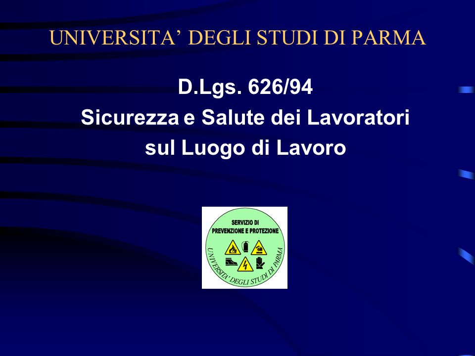 UNIVERSITA' DEGLI STUDI DI PARMA