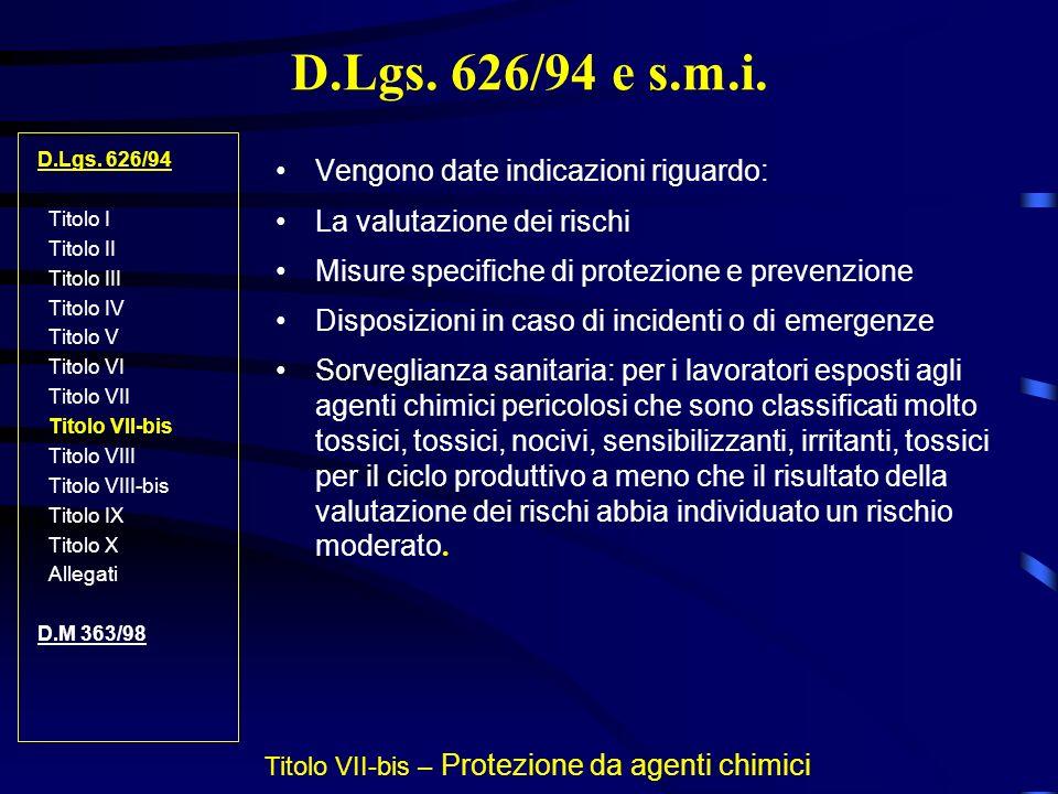 Titolo VII-bis – Protezione da agenti chimici