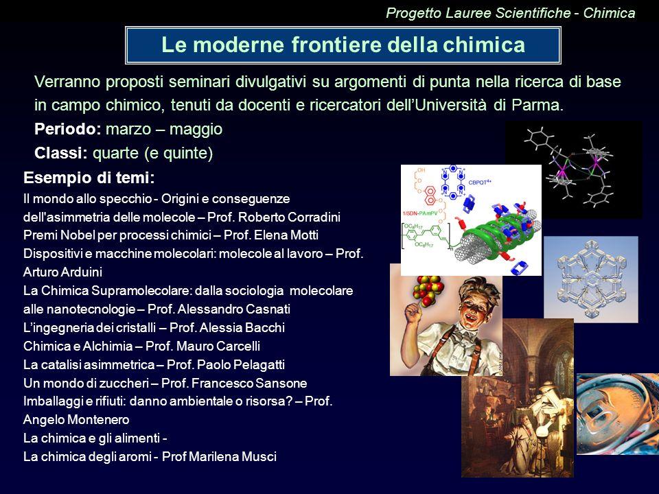 Le moderne frontiere della chimica