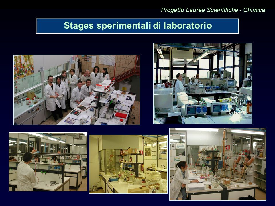 Stages sperimentali di laboratorio