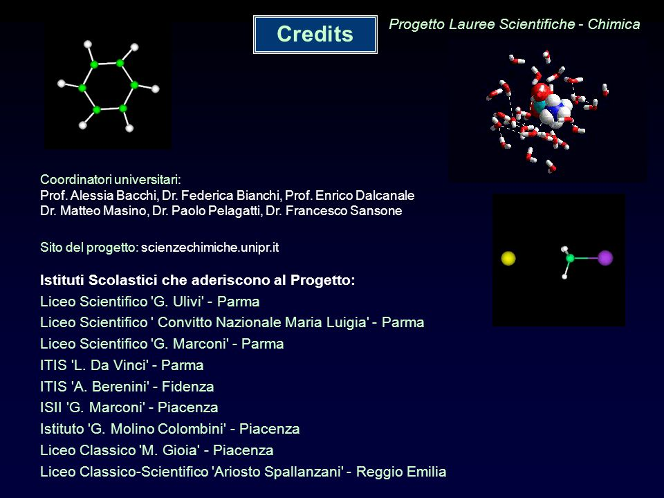 Progetto Lauree Scientifiche - Chimica