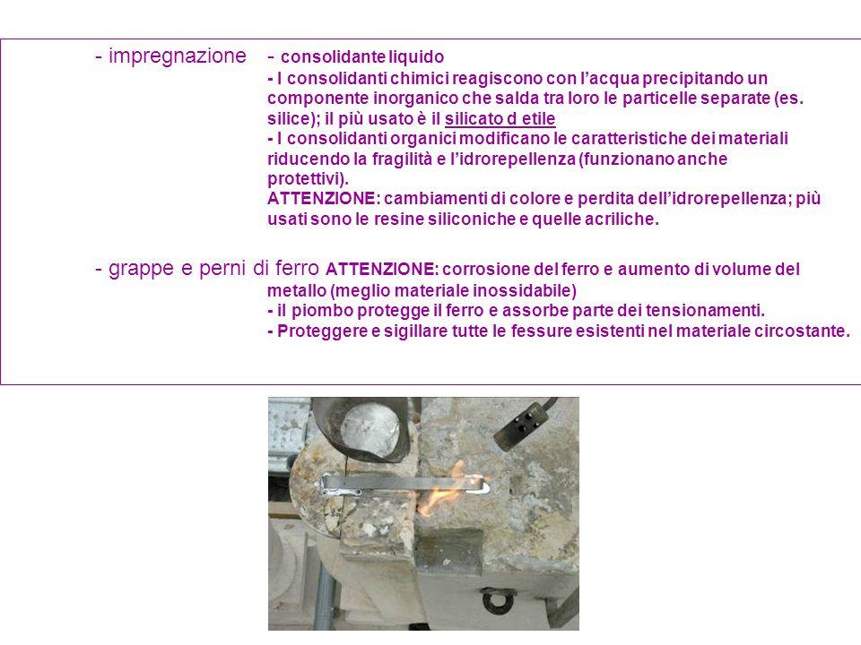 - impregnazione - consolidante liquido