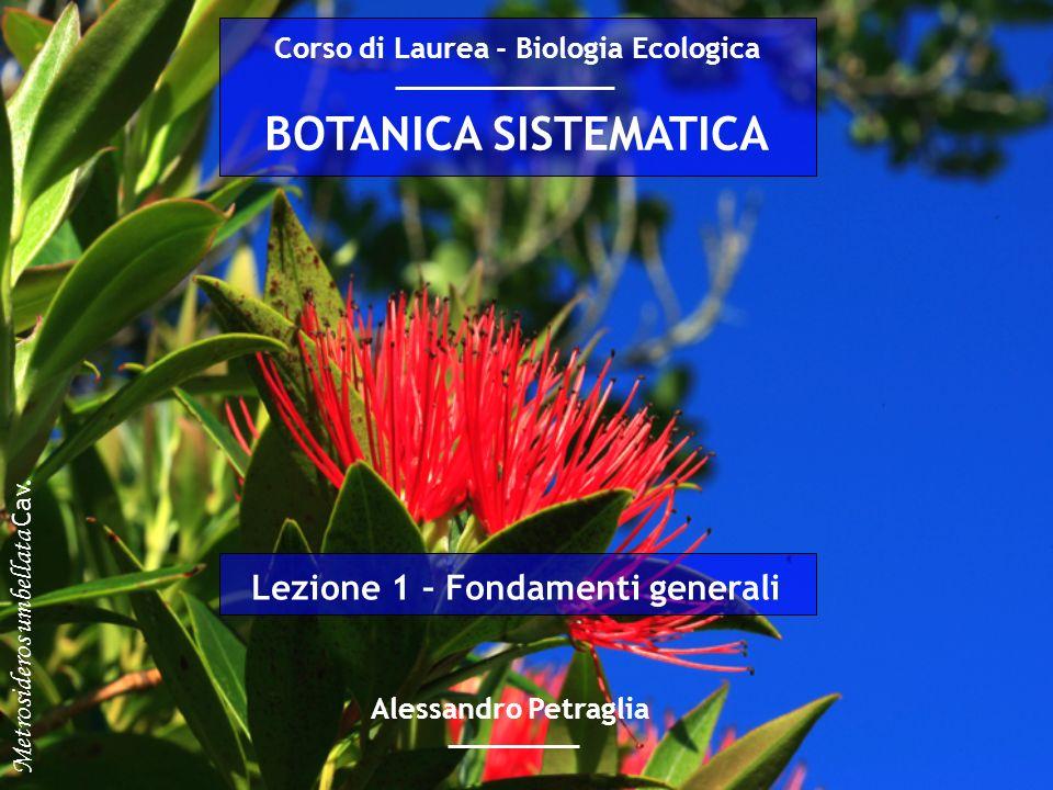 Corso di Laurea - Biologia Ecologica Lezione 1 – Fondamenti generali