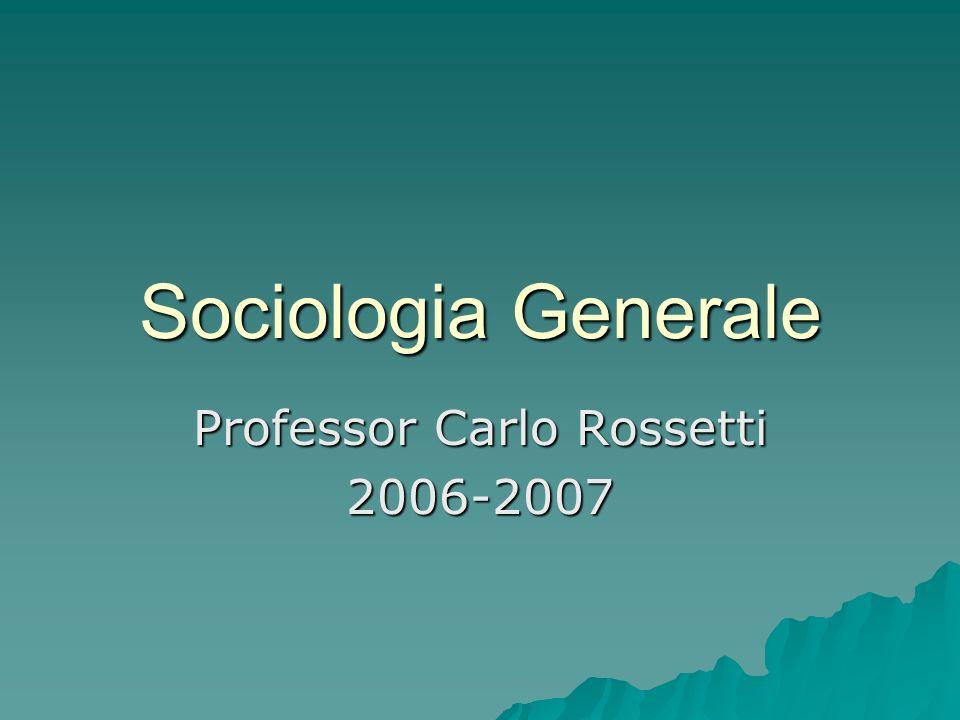 Professor Carlo Rossetti 2006-2007
