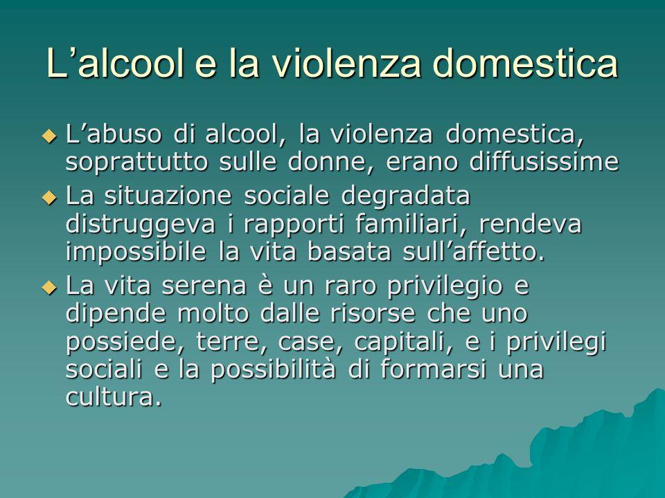 L'alcool e la violenza domestica