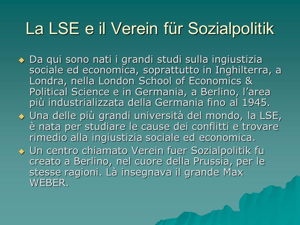 La LSE e il Verein für Sozialpolitik