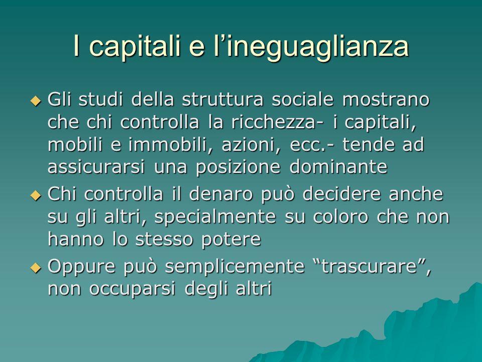 I capitali e l'ineguaglianza