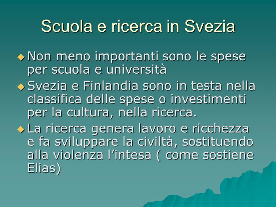 Scuola e ricerca in Svezia