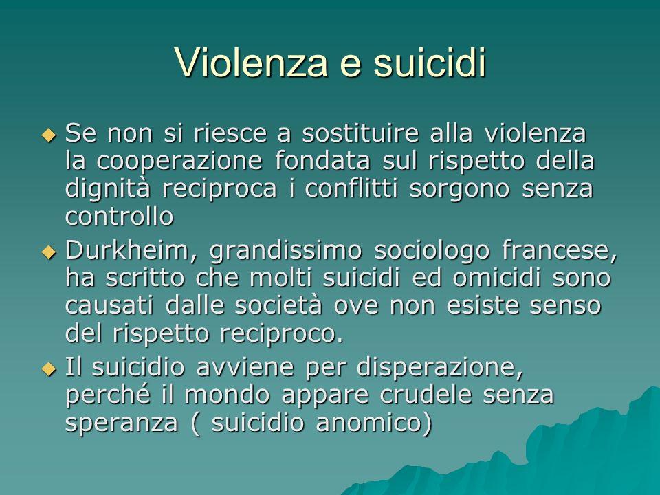 Violenza e suicidi