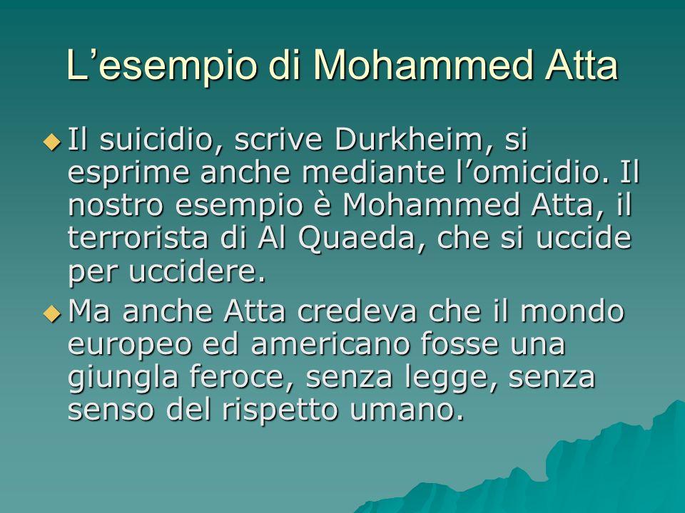 L'esempio di Mohammed Atta