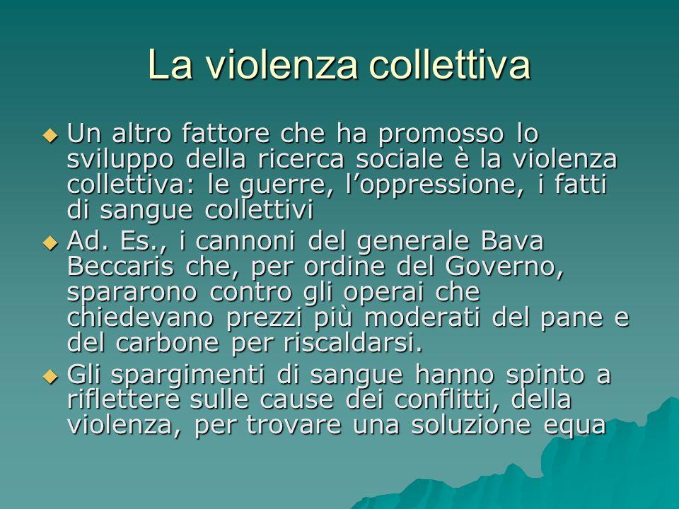 La violenza collettiva