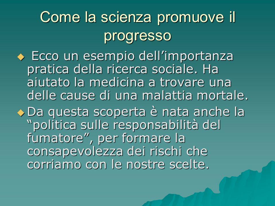 Come la scienza promuove il progresso