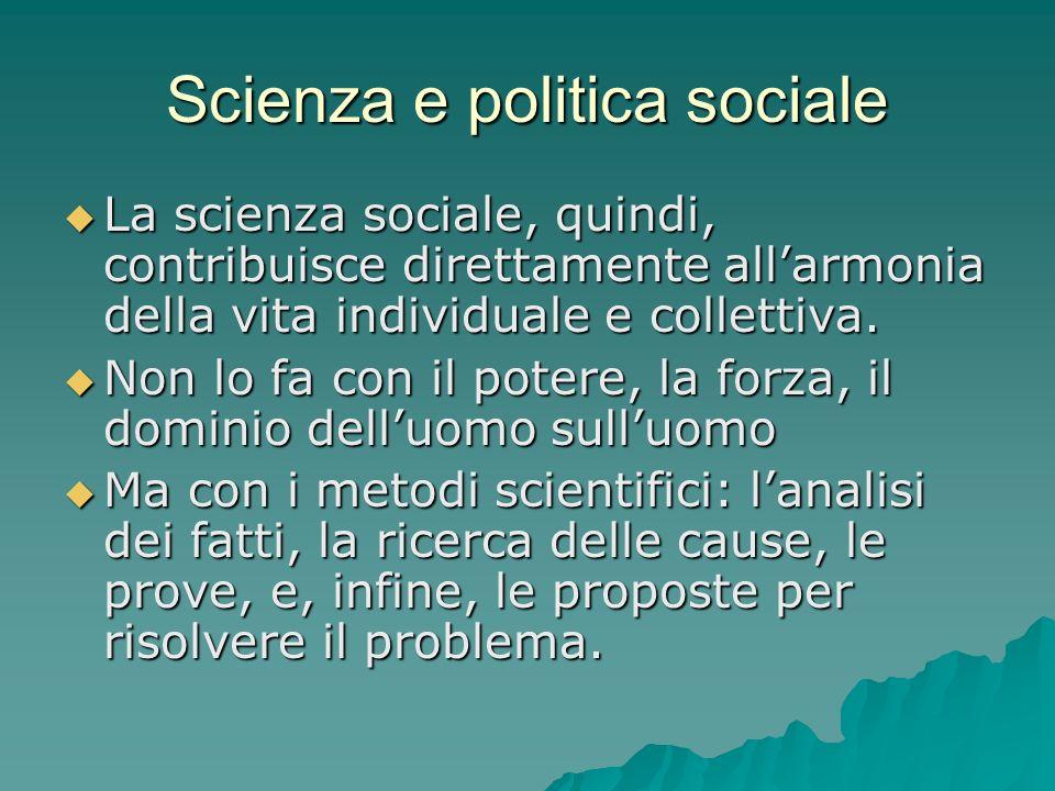 Scienza e politica sociale