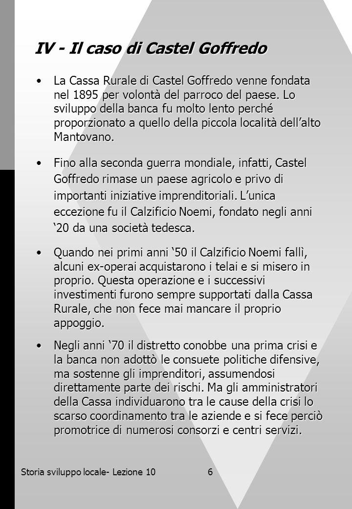 IV - Il caso di Castel Goffredo
