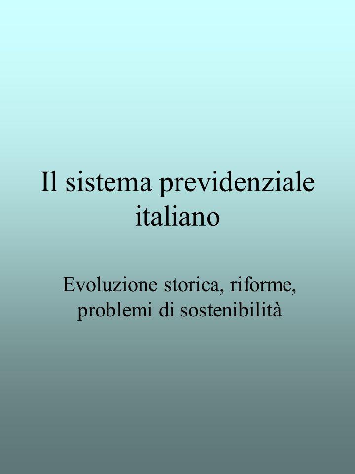 Il sistema previdenziale italiano