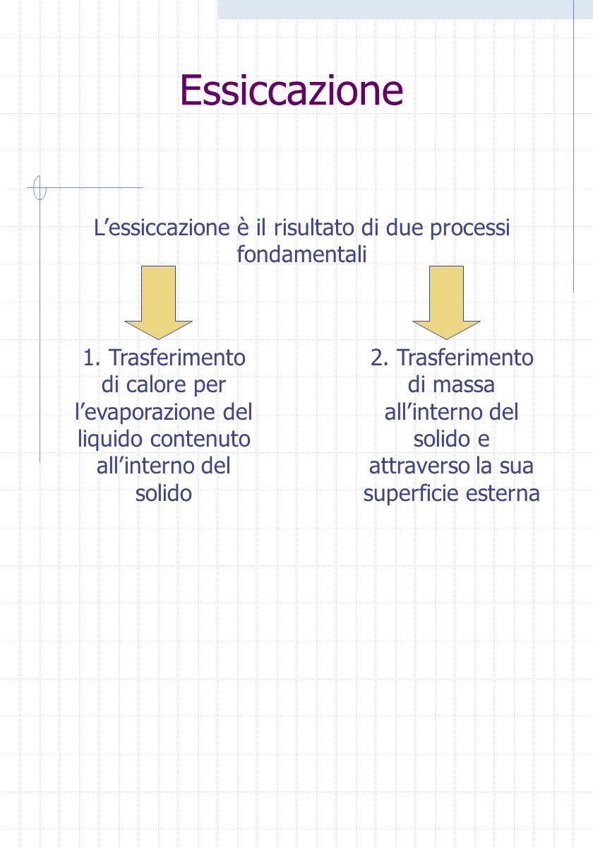 L'essiccazione è il risultato di due processi fondamentali