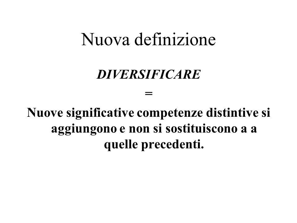 Nuova definizione DIVERSIFICARE =