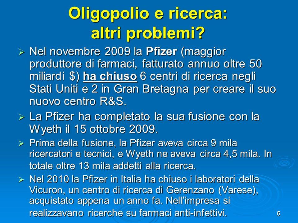 Oligopolio e ricerca: altri problemi