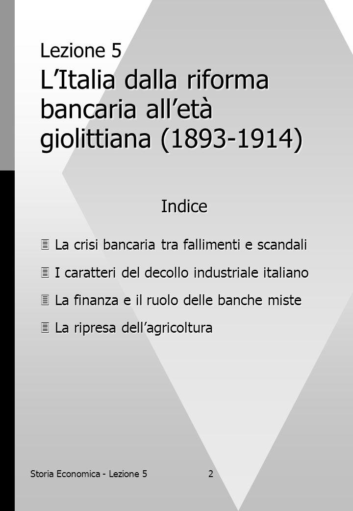 Storia Economica - Lezione 5