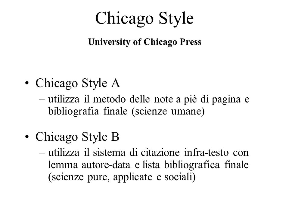 Chicago Style University of Chicago Press