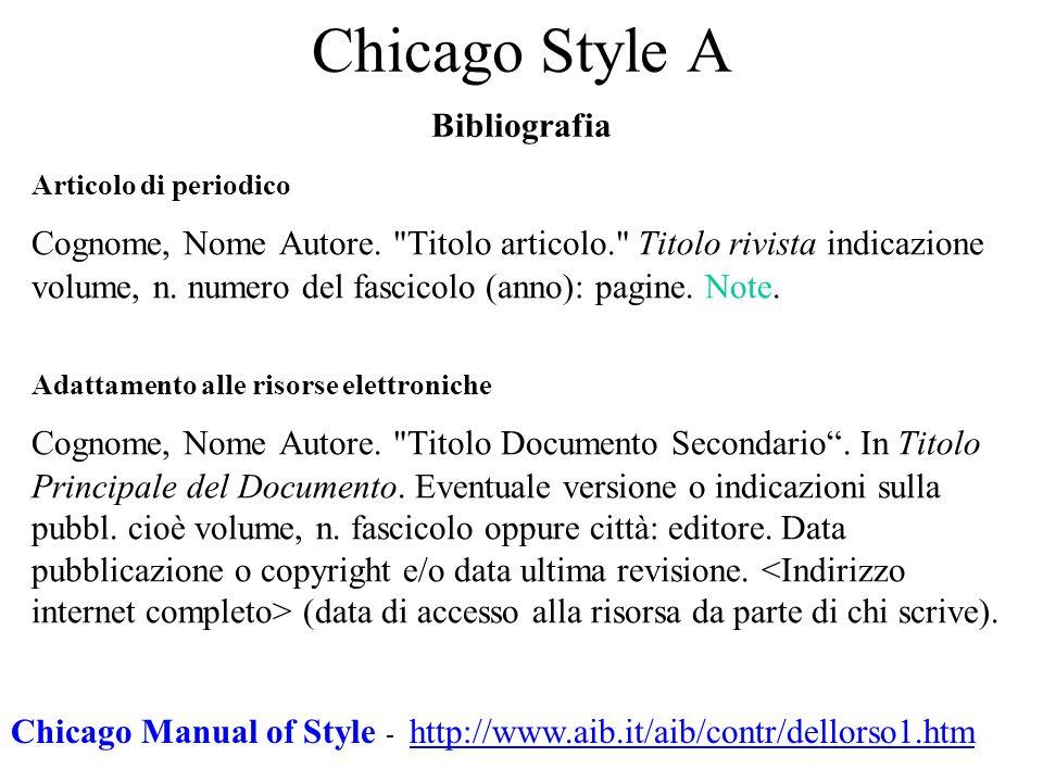 Chicago Style A Bibliografia
