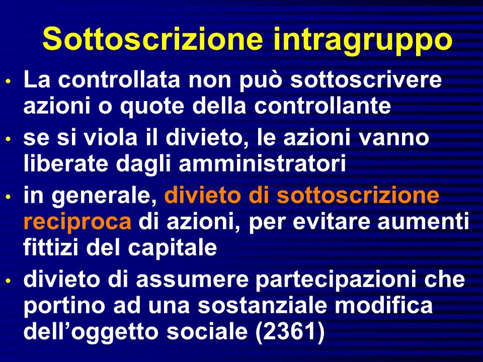 Sottoscrizione intragruppo