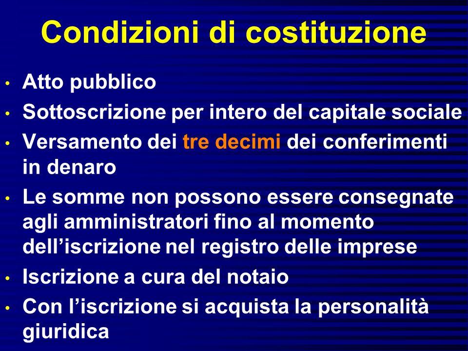 Condizioni di costituzione